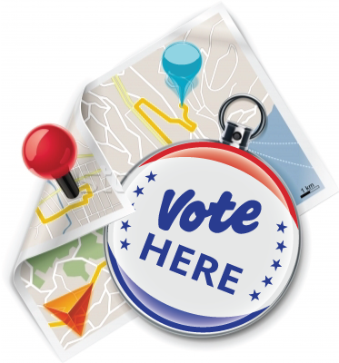 Vote here button & Map Icon